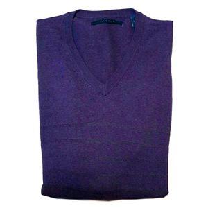 🍁 PERRY ELLIS Striped Lightweight Vneck Sweater